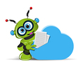 Robot and Cloud vector image vector image
