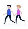 running man and woman icon vector image