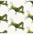 seamless pattern vith cute 3d insect vector image
