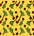 seamless pattern with beets vector image vector image