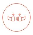 Seat belt line icon vector image vector image