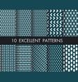 set 10 perfect patternsmodern hand drawn vector image vector image