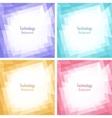 set light colorful technology frames vector image vector image