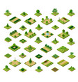 set of 3d isometric urban parks city natural vector image vector image