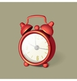set of Classic alarm clock with bells on top vector image