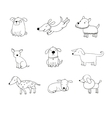 Set of funny cartoon dogs vector image vector image