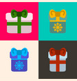 set of presents vector image vector image