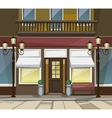 Shop Restaurant Cafe Store Front with Windows vector image