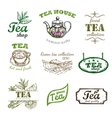 Sketch Tea Logo Set vector image vector image