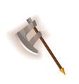 viking medieval halberd icon vector image vector image
