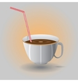 cup with a straw vector image