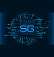 5g new wireless internet wi-fi connection circuit vector image