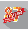 87th Years Anniversary Celebration Design vector image vector image