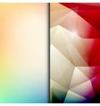 Abstract geometric polygonal shiny background vector image