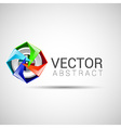 Abstract shape eps10 design color abstract icon vector image vector image