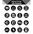 Advertising Icons Black vector image vector image