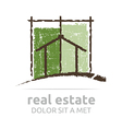 architecture real estate building business vector image vector image