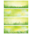 banners nature vector image vector image