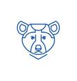 bear line icon concept bear vector image vector image