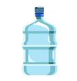 big plastic barrel bottle potable water on vector image vector image