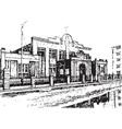 brick building vector image vector image