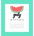 Calendar for July 2016 vector image