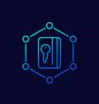 card key icon line