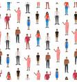 cartoon characters people african american vector image vector image