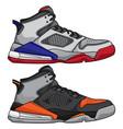 cartoon style basketball shoe icon vector image vector image