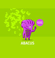 character of the abacus vector image vector image