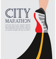 city running marathon athlete runner feet running vector image vector image