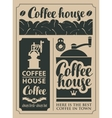 coffee and hot drinks vector image vector image