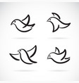 collection hand drawn doodle style birds on vector image vector image