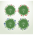 Collection labels with fresh berries vector image