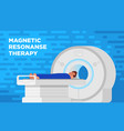 color of magnetic resonance imaging vector image vector image