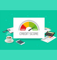 credit score rating report analysis check vector image vector image