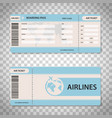 design boarding pass vector image