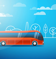 Different color city bus vector image vector image