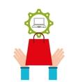 e-commerce business laptop money design icon vector image