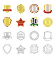 emblem and badge logo set vector image vector image