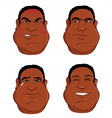 expressions black male vector image vector image