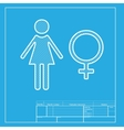 Female sign White section of icon on vector image vector image