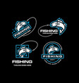 fishing lures logo set vector image