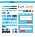 Flat web and mobile design elements buttons icons
