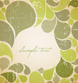 Green abstract retro background vector image vector image
