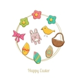 Hand Drawn Easter Elements vector image vector image