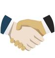 Handshake flat vector image vector image