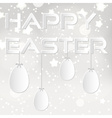 happy easter from paper with white eggs eps10 vector image vector image