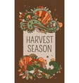 harvest season label vector image