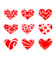 icon red heart flat style vector image